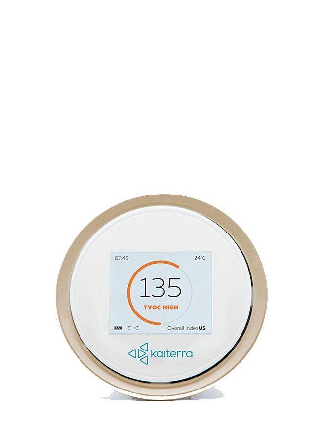 Display eller instrument för att mäta virus i luften. Laser Egg Plus Monitor.