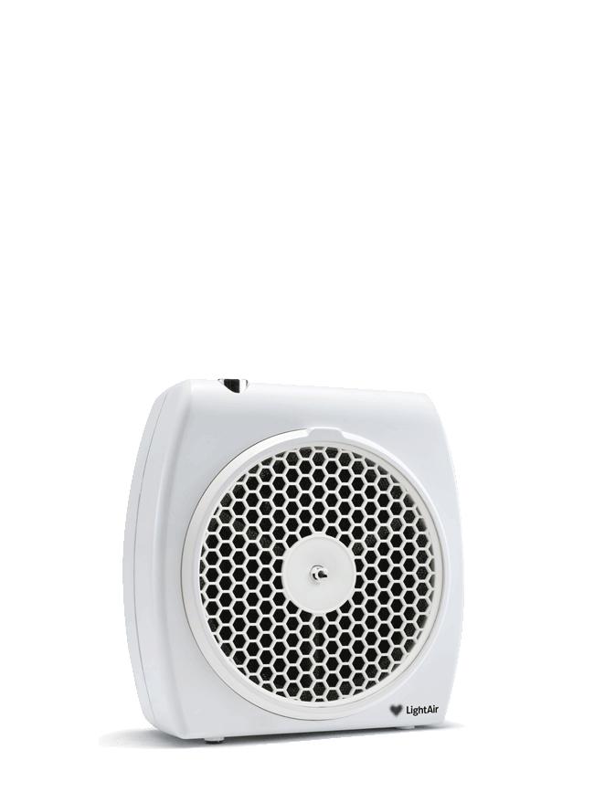 Light air cell flow, en luftrenare i vit färg.
